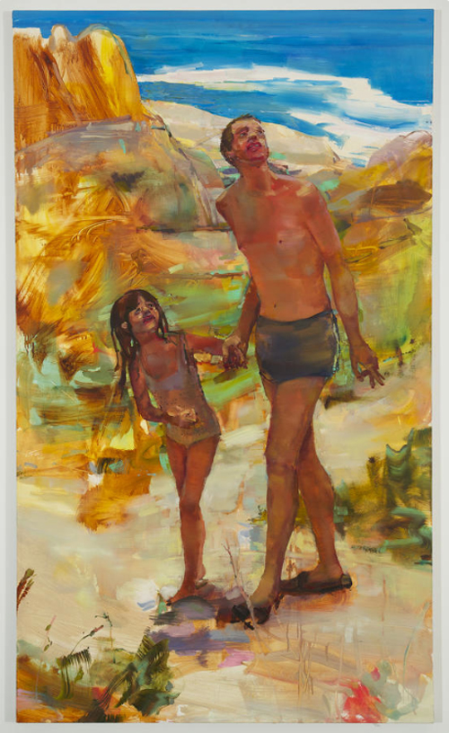 in Pictures for Angela Dufresne at Monya Rowe Gallery. Image for Angela Dufresne, 'Man And Girl,' 2014, oil on canvas, 68 by 40 inches. Courtesy of Monya Rowe Gallery, New York