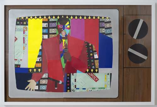 in Pictures for Derrick Adams at Tilton Gallery. Image for Derrick Adams, Fun and Games, 2014, Mixed media collage on paper and mounted on archival museum board, Framed: 50 5/16 x 74 3/8 inches (127.8 x 188.9 cm). Courtesy of the artist and Tilton Gallery