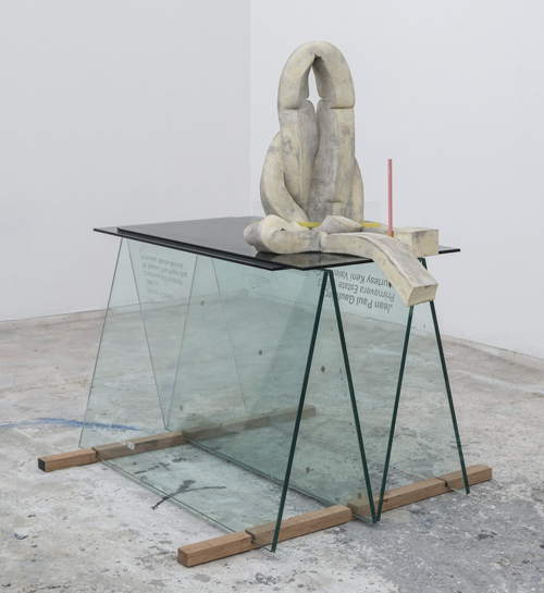 in Pictures for Dave Hardy at Churner and Churner. Image for Dave Hardy, 'Cutout,' 2014, glass, cement, polyurethane foam, tint, tape, and pencil, 9 x 11 x 7 inches. Courtesy of Churner and Churner, New York