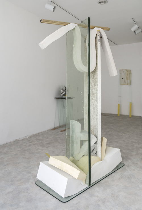 in Pictures for Dave Hardy at Churner and Churner. Image for Dave Hardy, 'Jane Fonda,' 2014, glass, diving board, cement, polyurethane foam, tint, aluminum, and Sharpie, 77 x 48 x 26 inches. Courtesy of Churner and Churner, New York