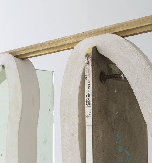 in Pictures for Dave Hardy at Churner and Churner. Image for Dave Hardy, 'Jane Fonda' (detail), 2014, glass, diving board, cement, polyurethane foam, tint, aluminum, and Sharpie, 77 x 48 x 26 inches. Courtesy of Churner and Churner, New York