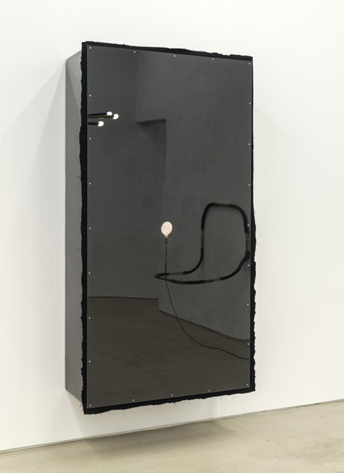 in Pictures for Andy Coolquitt at Lisa Cooley. Image for Andy Coolquitt, 'twin,' 2014, Wood, fabric, and Plexiglass, 76 x 39 x 16 inches. Courtesy of the artist and Lisa Cooley, New York.