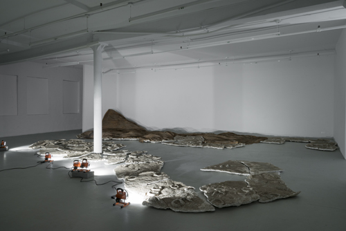 in Pictures for Gillian Jagger at David Lewis. Image for Gillian Jagger, 'And the Horses Ran' (2009), Latex, plaster, sand, 240 x 456 inches. Courtesy of the Artist and David Lewis