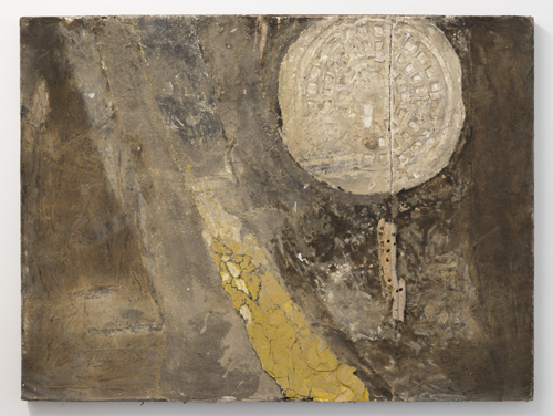 in Pictures for Gillian Jagger at David Lewis. Image for Gillian Jagger, 'Yellow Line & Time' (1963), Mixed earth pigment, plaster, dirt on board, 48 x 37 inches. Courtesy of the Artist and David Lewis