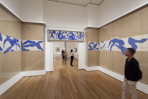 in Pictures for Henri Matisse at MoMA. Image for Installation view of The Swimming Pool (1952) in the exhibition Henri Matisse: The Cut-Outs at The Museum of Modern Art, New York (October 12, 2014-February 8, 2015). Photo by Jonathan Muzikar. © 2014 The Museum of Modern Art