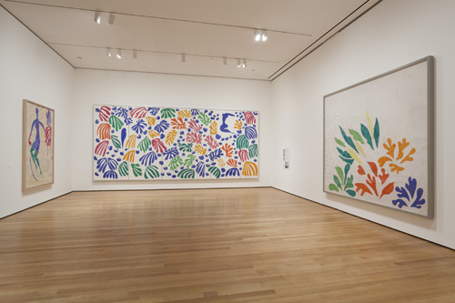 in Pictures for Henri Matisse at MoMA. Image for Installation view of Henri Matisse: The Cut-Outs at The Museum of Modern Art, New York (October 12, 2014-February 8, 2015). Photo by Jonathan Muzikar. © 2014 The Museum of Modern Art
