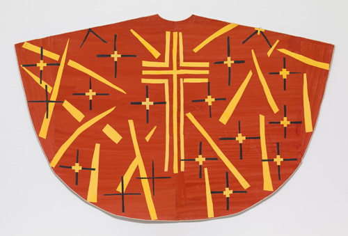 in Pictures for Henri Matisse at MoMA. Image for Henri Matisse (French, 1869-1954). Maquette for Red Chasuble (front). late 1950-52. Gouache on paper, cut and pasted. 52 1/2 x 78 1/8″ (133.4 x 198.4 cm). The Museum of Modern Art, New York. Acquired through the Lillie P. Bliss Bequest © 2014 Succession H. Matisse / Artists Rights Society (ARS), New York