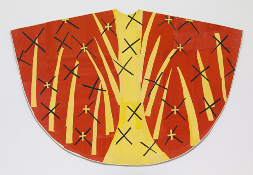 in Pictures for Henri Matisse at MoMA. Image for Henri Matisse (French, 1869-1954). Maquette for Red Chasuble (back). late 1950-52. Gouache on paper, cut and pasted. 50 1/2 x 6′ 6 1/2″ (128.2 x 199.4 cm). The Museum of Modern Art, New York. Acquired through the Lillie P. Bliss Bequest © 2014 Succession H. Matisse / Artists Rights Society (ARS), New York