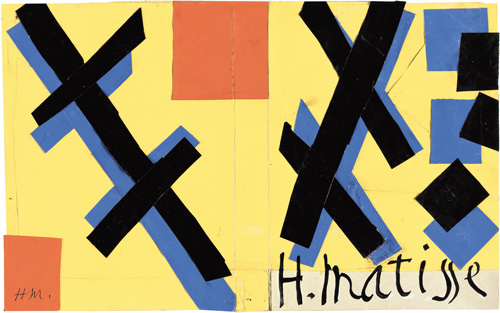 """in Pictures for Henri Matisse at MoMA. Image for Henri Matisse (French, 1869-1954). Cover maquette for the book Matisse His Art and His Public, 1951. Gouache on paper, cut and pasted. 10 5/8 x 16 7/8"""" (27 x 42.9 cm). The Museum of Modern Art, New York. Mrs Simon Guggenheim Fund, 1968. © 2014 Succession H. Matisse / Artists Rights Society (ARS), New York"""