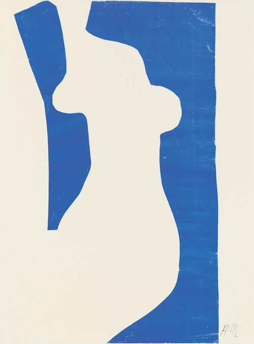 """in Pictures for Henri Matisse at MoMA. Image for Henri Matisse (French, 1869-1954). Venus (Vénus), 1952. Gouache on paper, cut and pasted, on white paper, mounted on paper panel. 39 7/8 x 30 1/8"""" (101.2 x 76.5 cm). National Gallery of Art, Washington. Ailsa Mellon Bruce Fund, 1973.18.2. © 2014 Succession H. Matisse / Artists Rights Society (ARS), New York"""