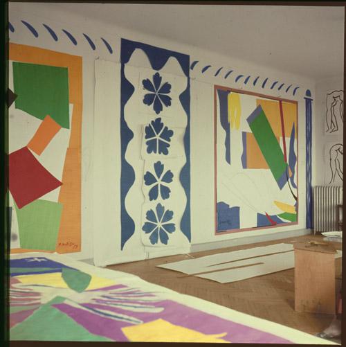 in Pictures for Henri Matisse at MoMA. Image for Matisse's studio, Hôtel Régina, Nice, c. 1953. Photo: Lydia Delectorskaya. © 2014 Succession H. Matisse