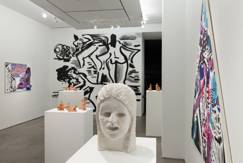 in Pictures for Mira Dancy & Sarah Peters at Asya Geisberg Gallery. Image for Installation view of Mira Dancy & Sarah Peters: BODYRITE at Asya Geisberg Gallery. Photography by Etienne Frossard. Courtesy Asya Geisberg Gallery