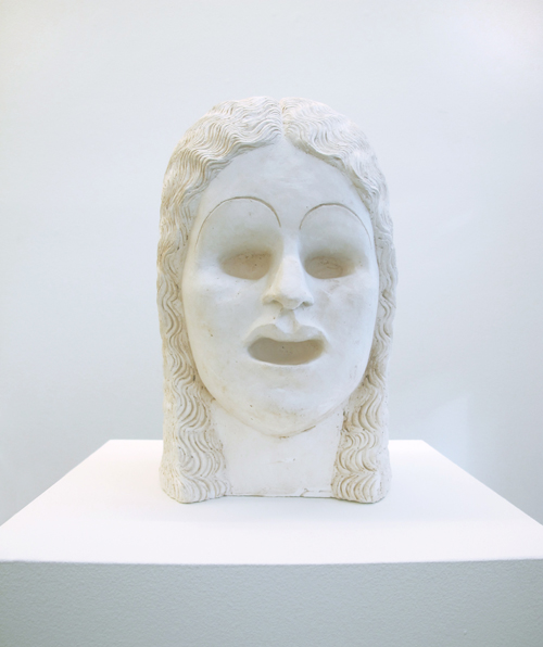 "in Pictures for Mira Dancy & Sarah Peters at Asya Geisberg Gallery. Image for Sarah Peters, Open Mouth, 2014, Plaster, Edition 1/4, 12.5"" x 7"" x 8"". Courtesy Asya Geisberg"