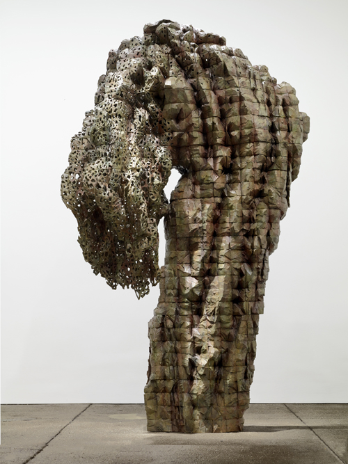 "in Pictures for Ursula von Rydingsvard at Galerie Lelong. Image for Ursula von Rydingsvard, 'Bent Lace,' 2014, Bronze, Height: 112"", Width: 69"", Depth (top): 40"", Base width: 25"", Depth: 19"", Edition of 3. Copyright of the Artist, Courtesy of Galerie Lelong, New York"