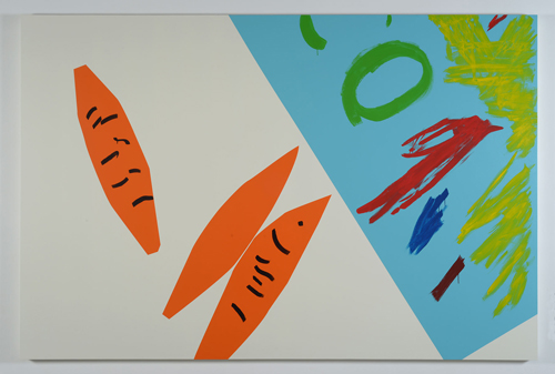 in Pictures for Marco Rios at Simon Preston Gallery. Image for Marco Rios, 'S is for Sincere, Formerly Formally F is for Fake # 7,' 2014, enamel paint on stretched muslin over panel, 84 x 126 in. / 213.4 x 320 cm. Courtesy the artist & Simon Preston, New York