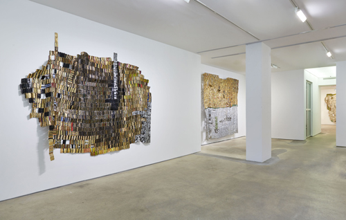 in Pictures for El Anatsui at Jack Shainman Gallery. Image for El ANATSUI, Installation view of 'Trains of Thought' at Jack Shainman, 524 West 24th Street, New York, on view through November 15th, 2014. ©El Anatsui. Courtesy of the artist and Jack Shainman Gallery, New York.