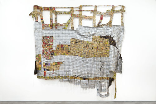 in Pictures for El Anatsui at Jack Shainman Gallery. Image for EL ANATSUI, 'Ascension,' 2014, Found aluminum and copper wire, 138 x 112 inches. ©El Anatsui. Courtesy of the artist and Jack Shainman Gallery, New York.