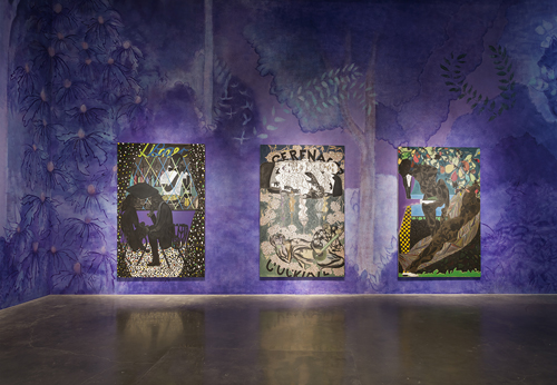 "Month In Pictures Chris Ofili at New Museum. Image for Installation view: ""Chris Ofili: Night and Day"". Courtesy David Zwirner, New York / London. Photo: Maris Hutchinson. All works © Chris Ofili"