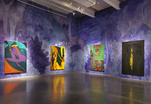 "in Pictures for Chris Ofili at New Museum. Image for Installation view: ""Chris Ofili: Night and Day"". Courtesy David Zwirner, New York / London. Photo: Maris Hutchinson. All works © Chris Ofili"