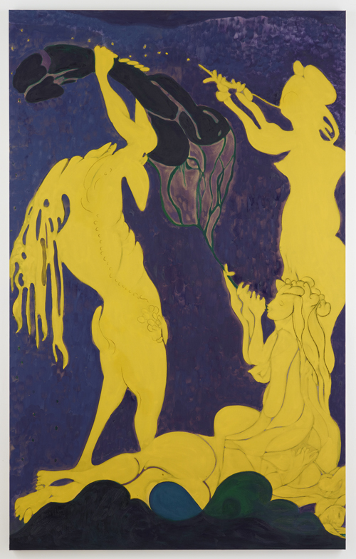 in Pictures for Chris Ofili at New Museum. Image for Chris Ofili, Ovid-Actaeon, 2011–12. Oil and charcoal on linen, 125 x 78 in (318 x 198.5 cm). © Chris Ofili. Courtesy the artist, David Zwirner, New York / London and Victoria Miro, London