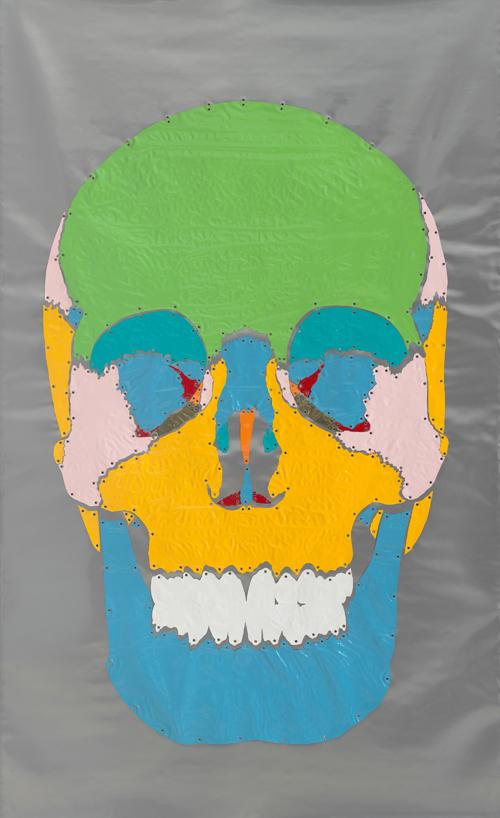 in Pictures for Kiki Kogelnik at Simone Subal Gallery. Image for Kiki Kogelnik, 'Skull,' c. 1970, Mixed media with sheet vinyl, 92 x 55 inches (234 x 140 cm). Courtesy of the Kiki Kogelnik Foundation and Simone Subal Gallery.