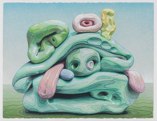 in Pictures for Alexander Ross at David Nolan Gallery. Image for Alexander Ross, 'Untitled,' 2014, crayon on paper, 22 1/4 x 28 1/2 in (56.5 x 72.4 cm). Courtesy of the artist and David Nolan Gallery, New York.