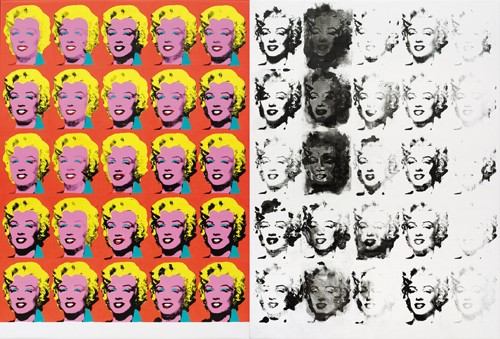 in Pictures for Sturtevant at MoMA. Image for Sturtevant. Warhol Diptych. 1973/2004. Synthetic polymer screenprint and acrylic on canvas. 6′ 11 7/8″ × 10′ 6 3/4″ (213 × 322 cm). Pinault Collection. Photo: Axel Schneider, Frankfurt am Main. © Estate Sturtevant, Paris