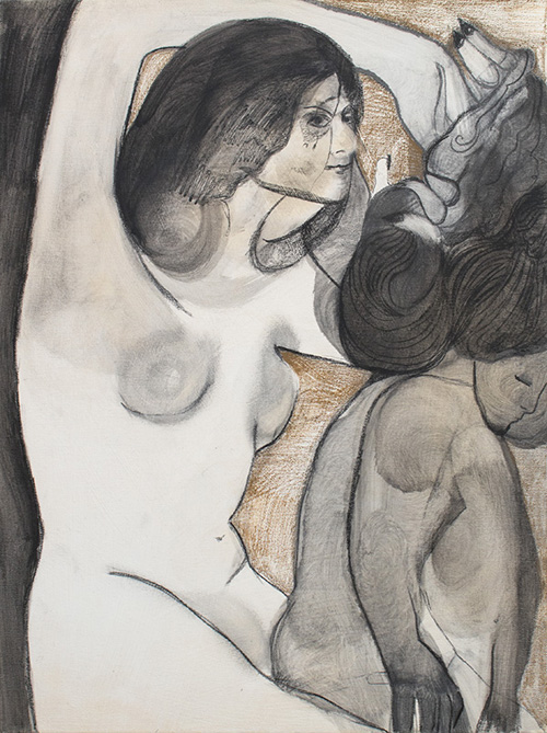 in Pictures for Maya Bloch at Thierry Goldberg Gallery. Image for Maya Bloch, 'Untitled,' 2014, graphite, ink and color pencil on canvas, 24 x 18 inches. Courtesy of Thierry Goldberg Gallery