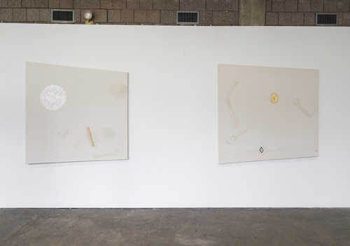 in Pictures for 'GEOMETRIES OF INTIMACY' at Abrons Arts Center. Image for Florian Meisenberg, 'When you are not here i can't go to sleep. (Delivery to the following recipients failed permanently),' 2014, Oil and oil paint on canvas / Florian Meisenberg, 'When you are not here i can't go to sleep. (Delivery to the following recipients failed permanently),' 2014, Oil and oil paint on canvas. Courtesy of the artist and Simone Subal Gallery