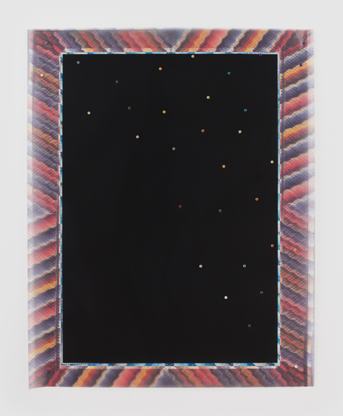 "in Pictures for Sara Greenberger Rafferty at Rachel Uffner Gallery. Image for Sara Greenberger Rafferty, ""Printed Frame with Screws,"" 2014, direct substrate printed plastic and hardware, 50 x 40 inches (127 x 101.6 cm), Edition 1 of 3 1 AP. Courtesy of Rachel Uffner"
