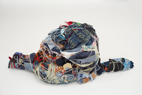 in Pictures for Judith Scott at The Brooklyn Museum. Image for Judith Scott (American, 1943‒2005). 'Untitled,' 2003-4. Fiber and found objects, 56 x 28 x 12 in. (142.2 x 71.1 x 30.5 cm). Creative Growth Art Center, Oakland. © Creative Growth Art Center. (Photo © Benjamin Blackwell)