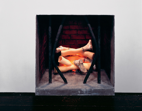 in Pictures for Robert Gober at MoMA. Image for Robert Gober (American, born 1954), Untitled. 1994 – 1995, Wood, beeswax, brick, plaster, plastic, leather, iron, charcoal, cotton socks, electric light and motor. 47 3/8 × 47 × 34″ (120.3 × 119.4 × 86.4 cm), Emanuel Hoffmann Foundation, on permanent loan to the Öffentliche Kunstsammlung Basel. Image Credit: D. James Dee, courtesy the artist and Matthew Marks Gallery © 2014 Robert Gober