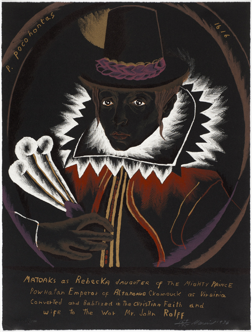 in Pictures for Marisol at El Museo del Barrio. Image for Marisol, American (born France, 1930), 'Pocahontas,' 1975  Lithograph, 26⅛ × 19¾ inches (66.4 × 50.2 cm). Private Collection