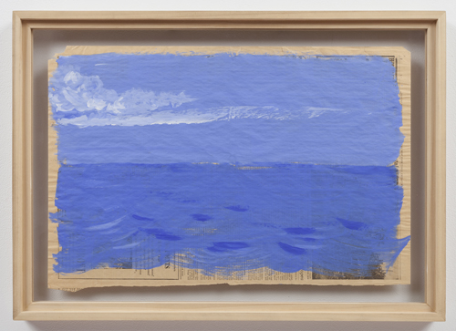 in Pictures for Paul Thek at Alexander and Bonin. Image for Paul Thek, 'Untitled (Blue Seascape)' ca. 1970, gouache on newspaper, 14 1/2 x 22 1/2 in/37 x 57 cm. photo: Joerg Lohse. Courtesy, Alexander and Bonin, New York