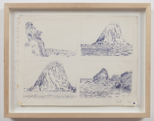 in Pictures for Paul Thek at Alexander and Bonin. Image for Paul Thek, 'Untitled (4 Ponza Landscapes)' 1970, ink on paper, 11 3/4 x 16 in/30 x 41 cm. photo: Joerg Lohse. Courtesy, Alexander and Bonin, New York