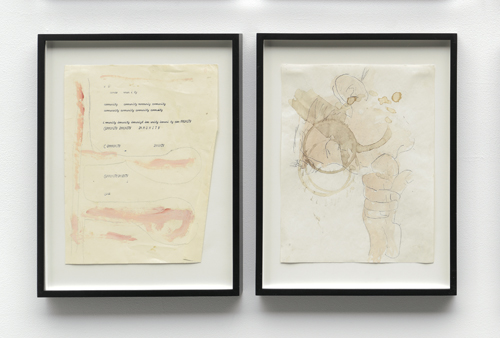 """in Pictures for 'Take Back Vermont' at Zieher Smith & Horton. Image for Peter Gallo, 'Untitled,' 1988-2014, Oil, graphite & watercolor on found paper, 11x8.5"""" / 27.9x21.6cm (each). Photo credit: Mark-Woods.com. Courtesy of the Artist and Zieher Smith & Horton"""