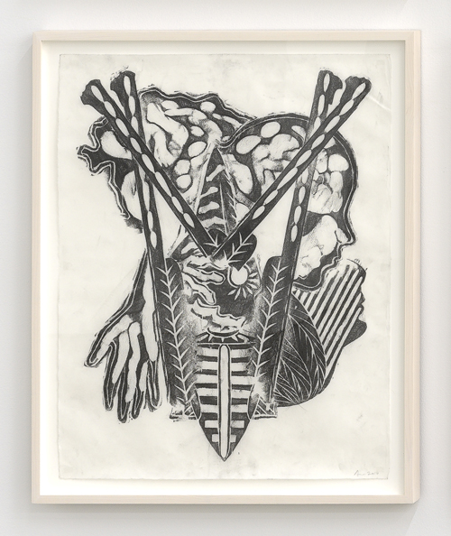 """in Pictures for 'Take Back Vermont' at Zieher Smith & Horton. Image for Aaron Spangler, 'Untitled,'  2013-2014, Graphite on paper (frottage), 24x18"""" / 61x45.7cm. Photo credit: Mark-Woods.com. Courtesy of the Artist and Zieher Smith & Horton"""