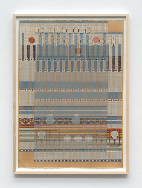"""in Pictures for 'Take Back Vermont' at Zieher Smith & Horton. Image for Ellen Lesperance, 'Fist,' 2014, Gouache and graphite on tea stained paper, 41.5x29.5"""" / 105.4x74.9cm. Photo credit: Mark-Woods.com. Courtesy of the Artist and Zieher Smith & Horton"""