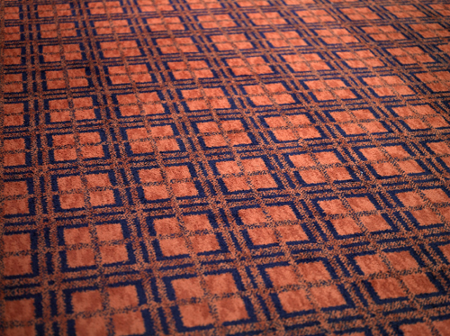 in Pictures for 'Speaking of People: Ebony, Jet, and Contemporary Art' at The Studio Museum in Harlem. Image for David Hartt, 'Carpet at The Johnson Publishing Company Headquarters, Chicago, Illinois, II,' 2011, Archival pigment print mounted to Dibond and framed, 60 × 80 in. Edition of 6 + 1 AP. Courtesy the artist and Corbett vs Dempsey, Chicago, IL