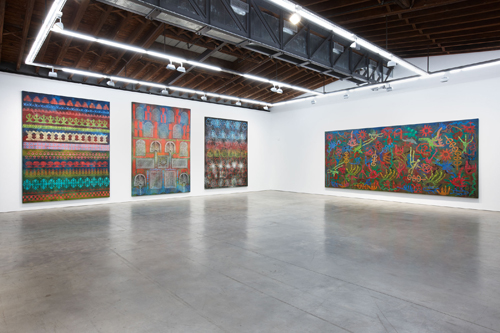 in Pictures for Philip Taaffe at Luhring Augustine Bushwick. Image for Philip Taaffe, Installation view, January 17 - April 26, 2015, Luhring Augustine Bushwick, New York. Photo by Farzad Owrang. © Philip Taaffe; Courtesy of the artist and Luhring Augustine, New York.