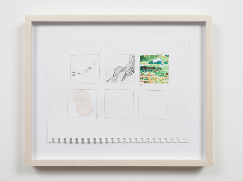 in Pictures for Nolan Simon at 47 Canal. Image for Nolan Simon, 'Ponza and Roma,' 2014, graphite and watercolor on sketchbook paper, 9 x 12 inches (22.86 x 30.48 cm). Image courtesy of 47 Canal, New York. Photo by Joerg Lohse