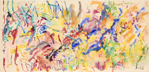 in Pictures for Nancy Graves at Mitchell-Innes & Nash. Image for NANCY GRAVES, 'Kloe,' 1977, Watercolor on paper, 44 by 90 3/4 in. (111.8 by 230.5 cm.) © 2014 Nancy Graves Foundation, Inc / Licensed by VAGA, New York, NY.  Images may not be reproduced in any form without permission from the foundation. Courtesy of Mitchell-Innes & Nash, NY.