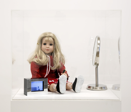 in Pictures for Lynn Hershman Leeson at Bridget Donahue. Image for Lynn Hershman Leeson, 'CybeRoberta,' 1996, Telerobotic made-to-order doll with web-cam eyes, computer, software, monitor, 46 x 33 x 39 inches (116.84 x 83.82 x 99.06 cm), AP I (1). Courtesy Bridget Donahue, New York