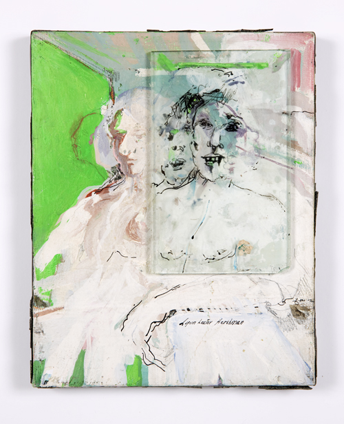 in Pictures for Lynn Hershman Leeson at Bridget Donahue. Image for Lynn Hershman Leeson, Untitled,' 1965, Acrylic on canvas, 10 x 8 inches (25.40 x 20.32 cm), 12 x 10 inches (30.48 x 25.40 cm) (framed), Unique. Courtesy Bridget Donahue, New York