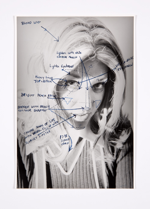 in Pictures for Lynn Hershman Leeson at Bridget Donahue. Image for Lynn Hershman Leeson, 'Construction Chart Drawing,' 1973, Ink on gelatin silver print, 9.25 x 6.5 inches (23.50 x 16.51 cm), 17 x 13.5 inches (43.18 x 34.29 cm) (framed), Unique. Courtesy Bridget Donahue, New York