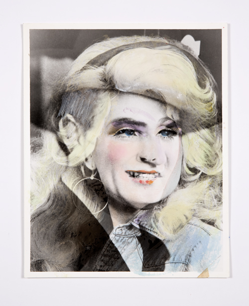 in Pictures for Lynn Hershman Leeson at Bridget Donahue. Image for Lynn Hershman Leeson, 'Parton/Wayne (TRANSpositions),' 1984, Watercolor on chromogenic print, 10 x 8 inches (25.40 x 20.32 cm), 12.75 x 10.75 inches (32.39 x 27.31 cm) (framed), Unique. Courtesy Bridget Donahue, New York