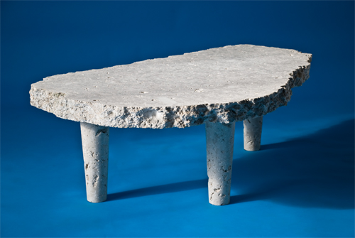 in Pictures for '2015 Triennial: Surround Audience' at New Museum. Image for Nicholas Mangan, Dowiyogo's Ancient Coral Coffee Table, 2009–10. Limestone from the island of Nauru, 17 3/4 x 47 1/4 x 31 1/2 in (45 x 120 x 80 cm). Courtesy the artist; LABOR, Mexico City; and Sutton Gallery, Brunswick