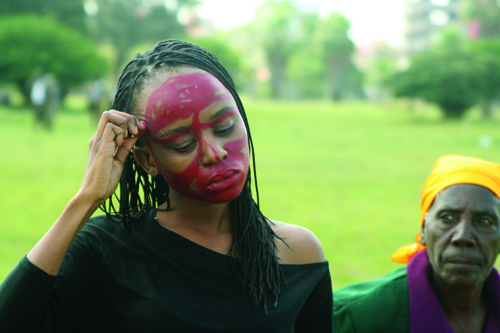 in Pictures for '2015 Triennial: Surround Audience' at New Museum. Image for Donna Kukama, NOT YET (AND NOBODY KNOWS WHY NOT), 2008. Performance documentation: Uhuru Park, Nairobi. Courtesy the artist and Blank Projects, Cape Town. Photo: Justus Kyalo