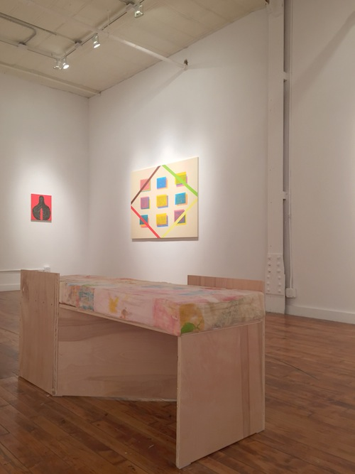 in Pictures for Jack Davidson at Theodore:Art. Image for Installation view of Jack Davidson: 'love, mistake, promise, auto crack-up, color, petal' at Theodore:Art, Brooklyn, 2015. Courtesy of Theodore:Art