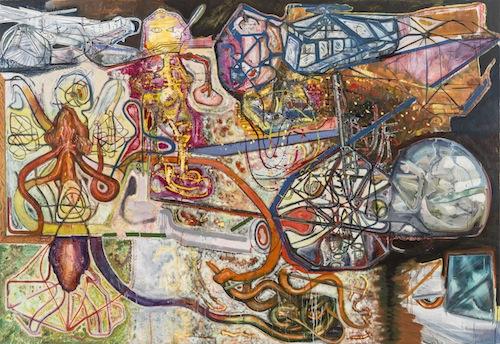 in Pictures for Steve DiBenedetto at Derek Eller Gallery. Image for Steve DiBenedetto, 'The Bell Notes,' 2008-15, oil on linen, 82 x 119 x 1.5 inches. Courtesy Derek Eller Gallery